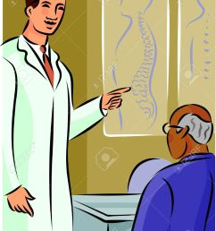 doctor showing his patient a diagram of the spine stock photo diagram of toon diagram of doctor [ 958 x 1300 Pixel ]