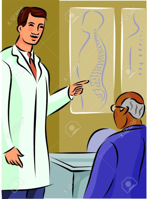 small resolution of doctor showing his patient a diagram of the spine stock photo diagram of toon diagram of doctor