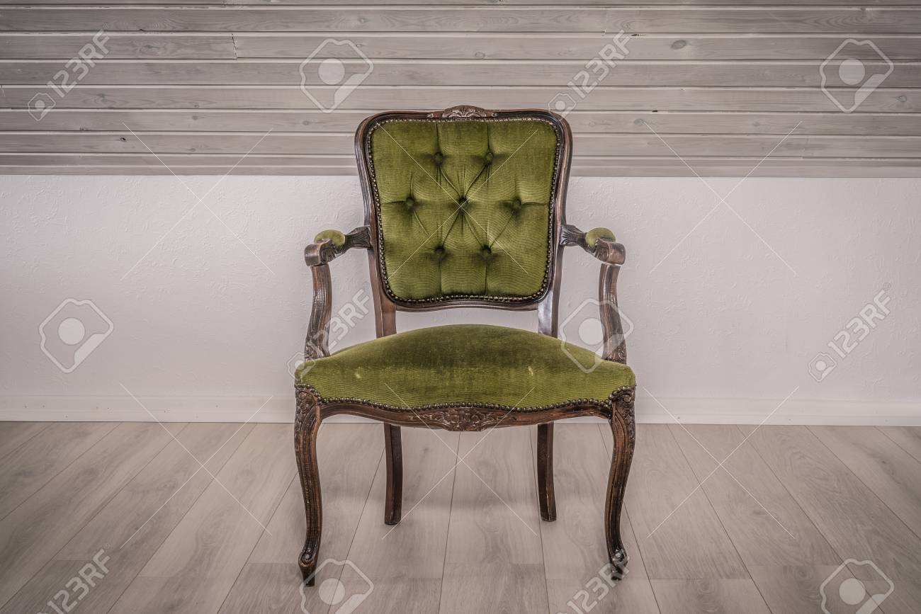 Best green screen to help boost your photography. green chair in victorian style on wooden floor stock photo picture and royalty free image image 41689253