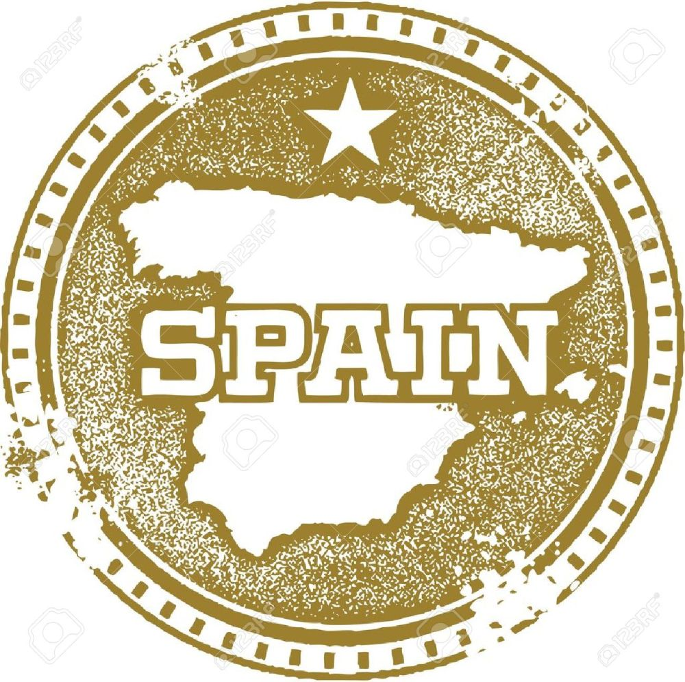medium resolution of vector vintage spain country stamp