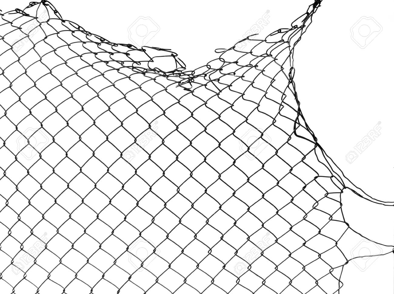 Damage wire mesh stock photo picture and royalty free image image
