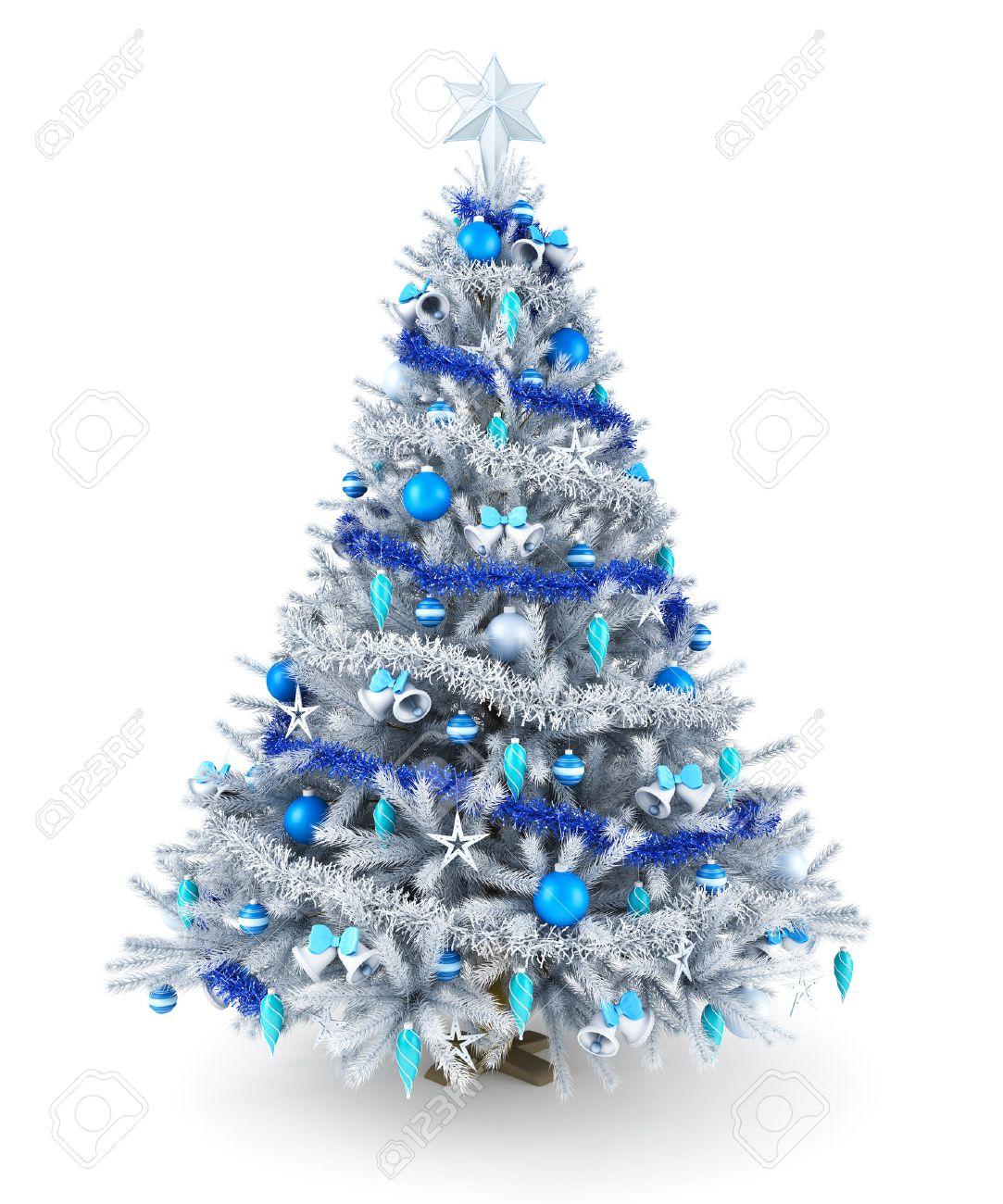 Blue Christmas Tree Decorating Ideas