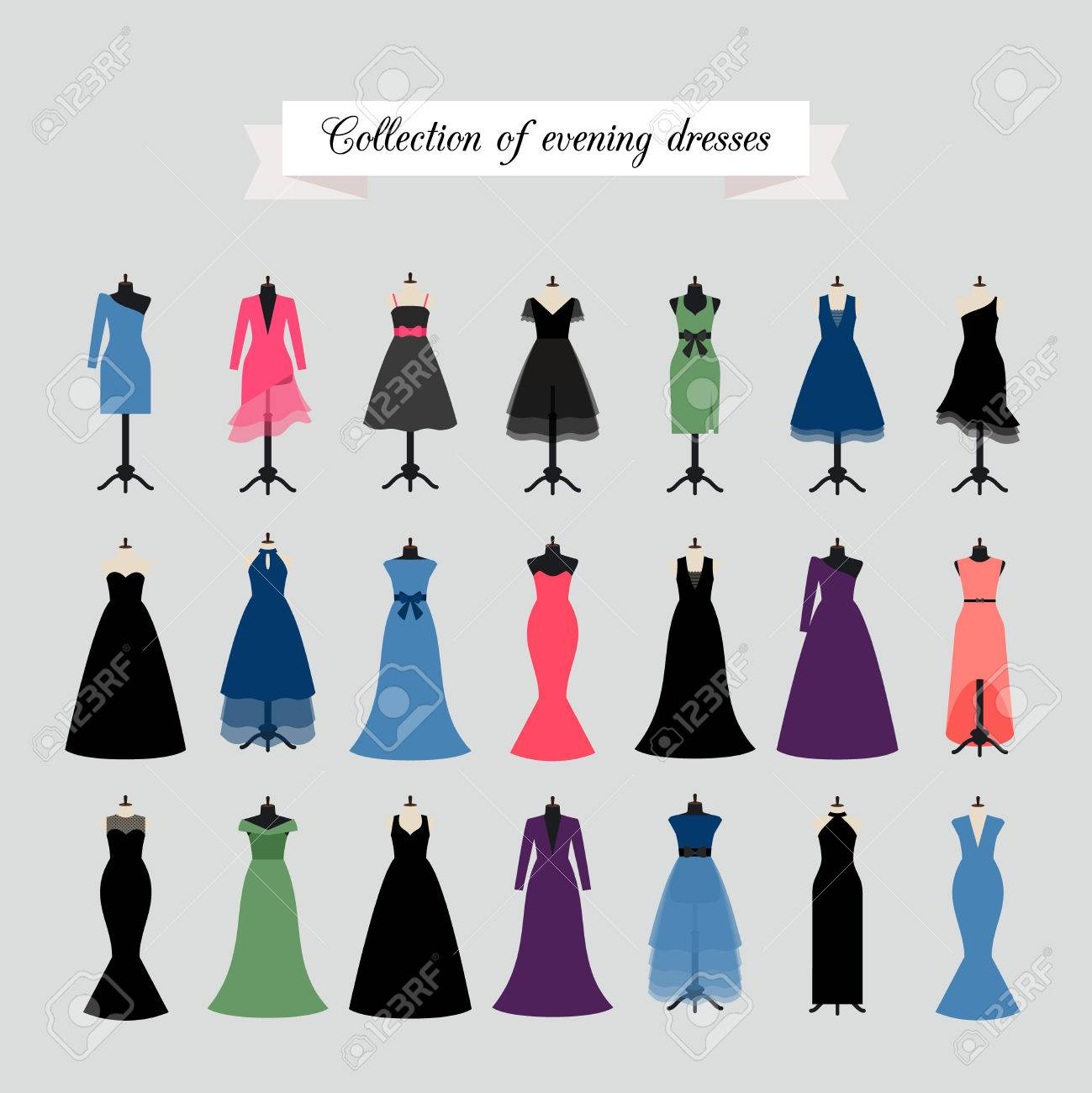 evening dresses vector party