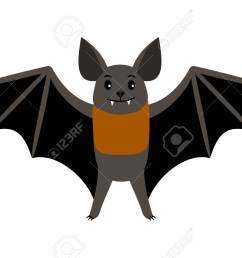 vampire bat vector illustration scary halloween flying isolated icon stock vector 98628136 [ 1300 x 866 Pixel ]