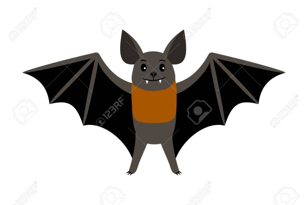 medium resolution of vampire bat vector illustration scary halloween flying isolated icon stock vector 98628136