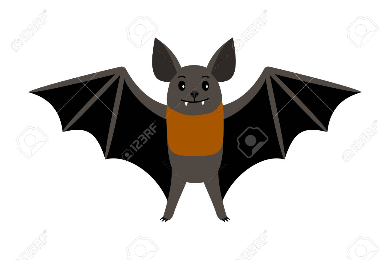 hight resolution of vampire bat vector illustration scary halloween flying isolated icon stock vector 98628136