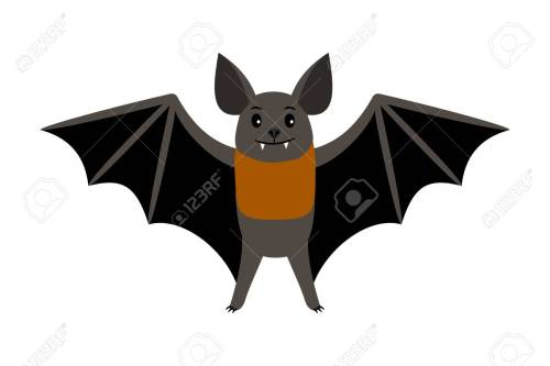 small resolution of vampire bat vector illustration scary halloween flying isolated icon stock vector 98628136
