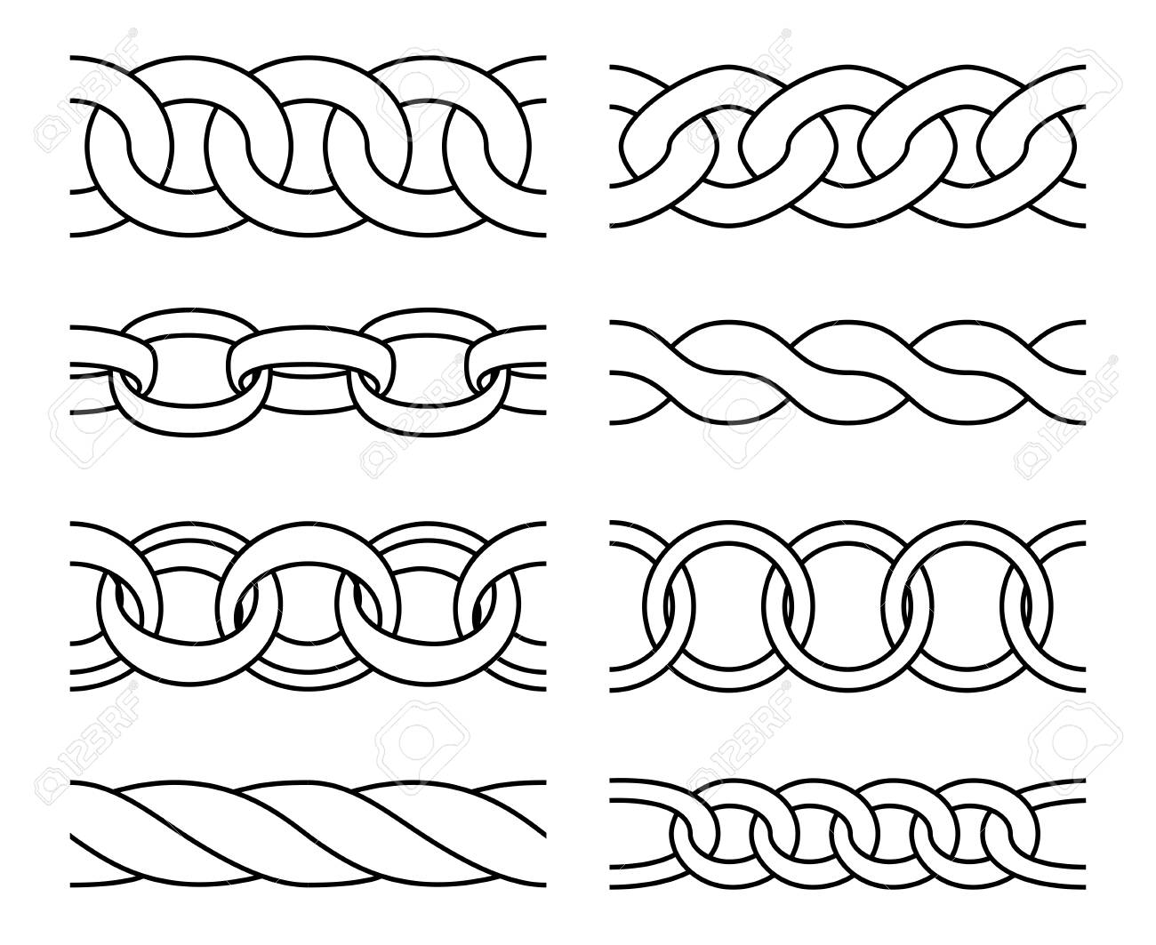 outline chain patterns heavy