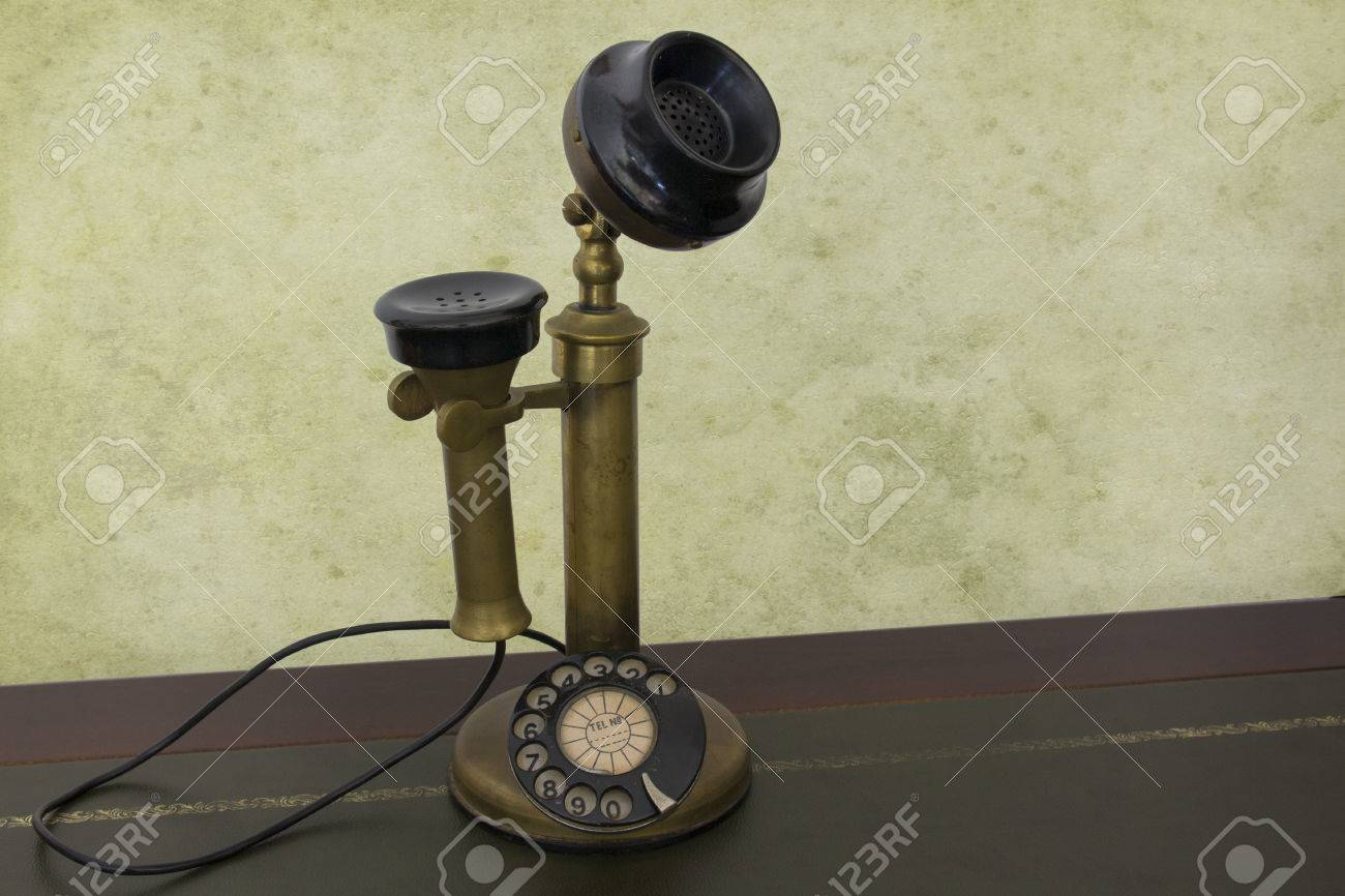 hight resolution of antique phone with control dial old rotary telephone stock photo 57044225