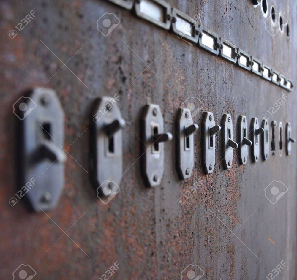 medium resolution of old switches to a fuse box stock photo picture and royalty free