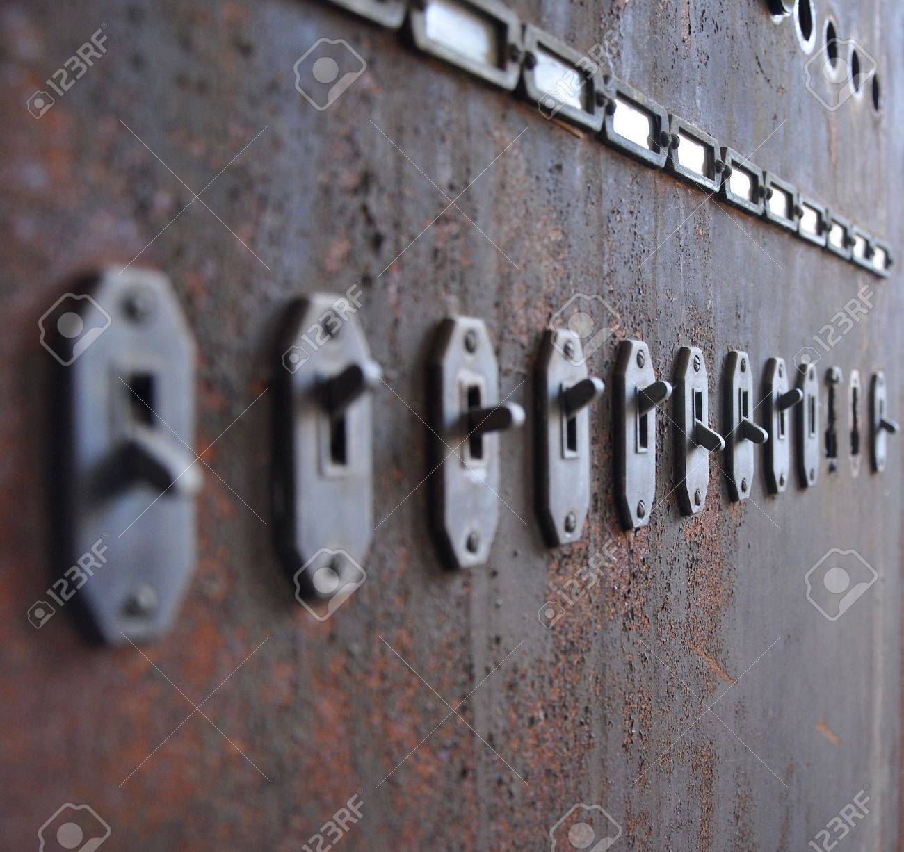 hight resolution of old switches to a fuse box stock photo picture and royalty free