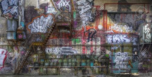 small resolution of fuse box graffiti and a staircase on a wall stock photo 32029774