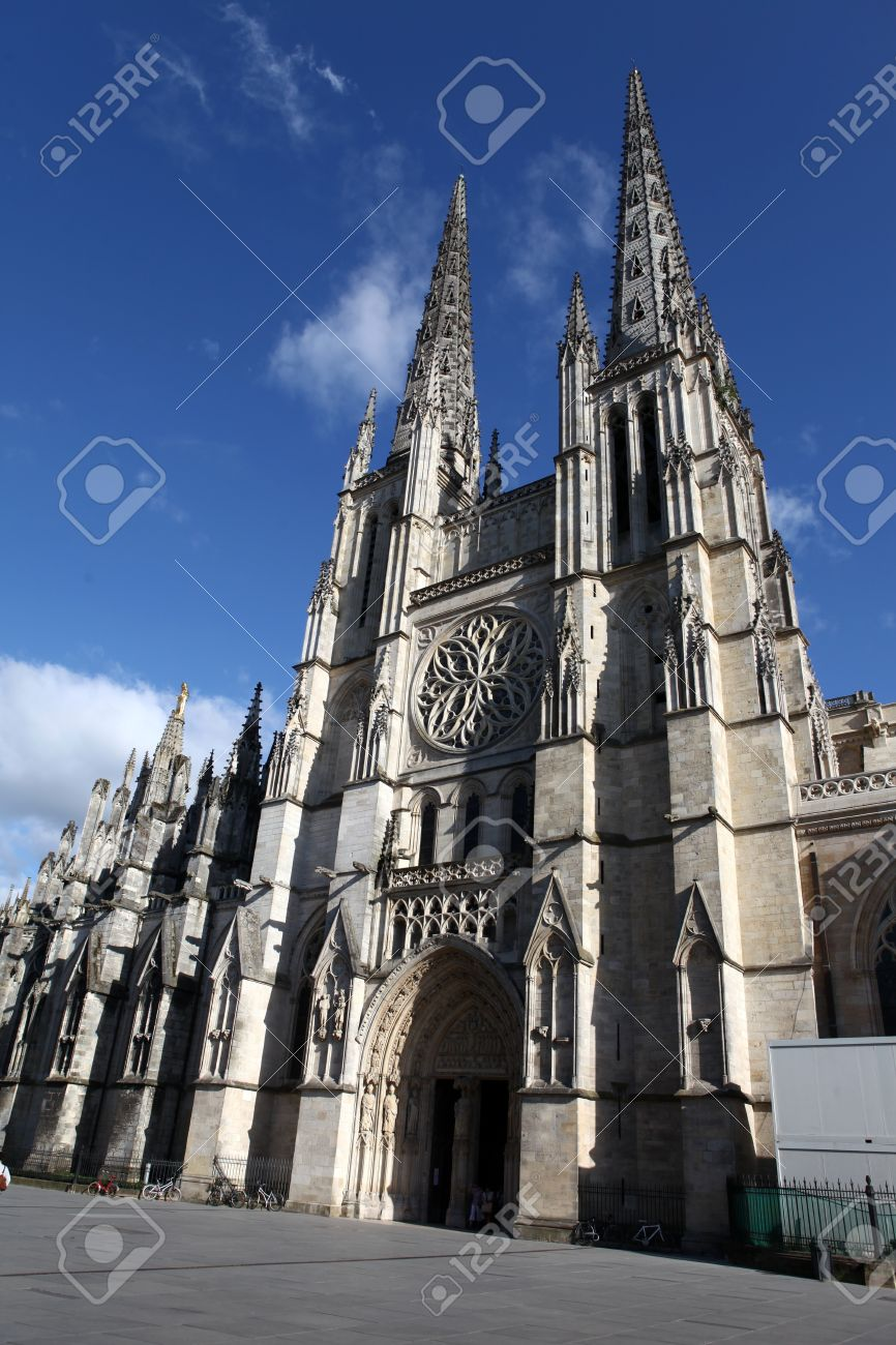 The Saint Andrew Cathedral In Bordeaux France