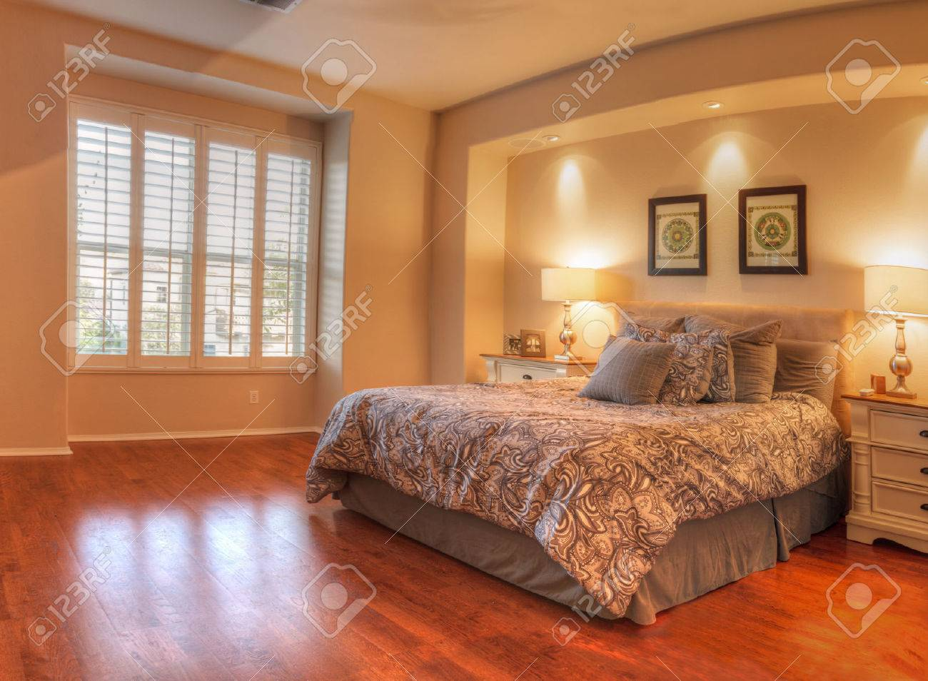 irvine ca usa august 19 2016 large master bedroom with