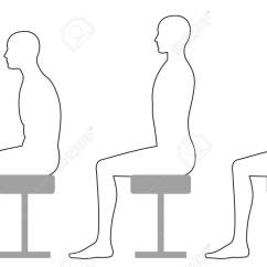 Posture Chair Sitting Green Dining Covers When On A Stool Royalty Free Cliparts Vectors And Stock Vector 90149752