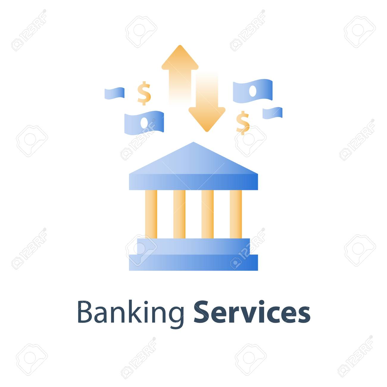 Bank Services Savings Account Deposit Money Pension Fund Royalty Free Cliparts Vectors And Stock Illustration Image 118575877