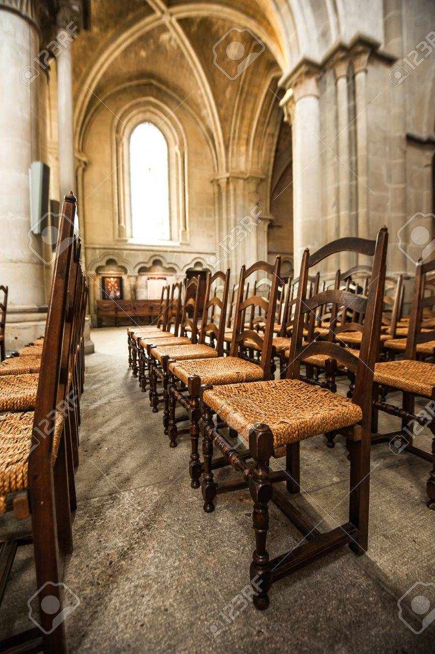 notre dame chair cosco step stool replacement parts line of chairs in side cathedral lausanne switzerland stock photo