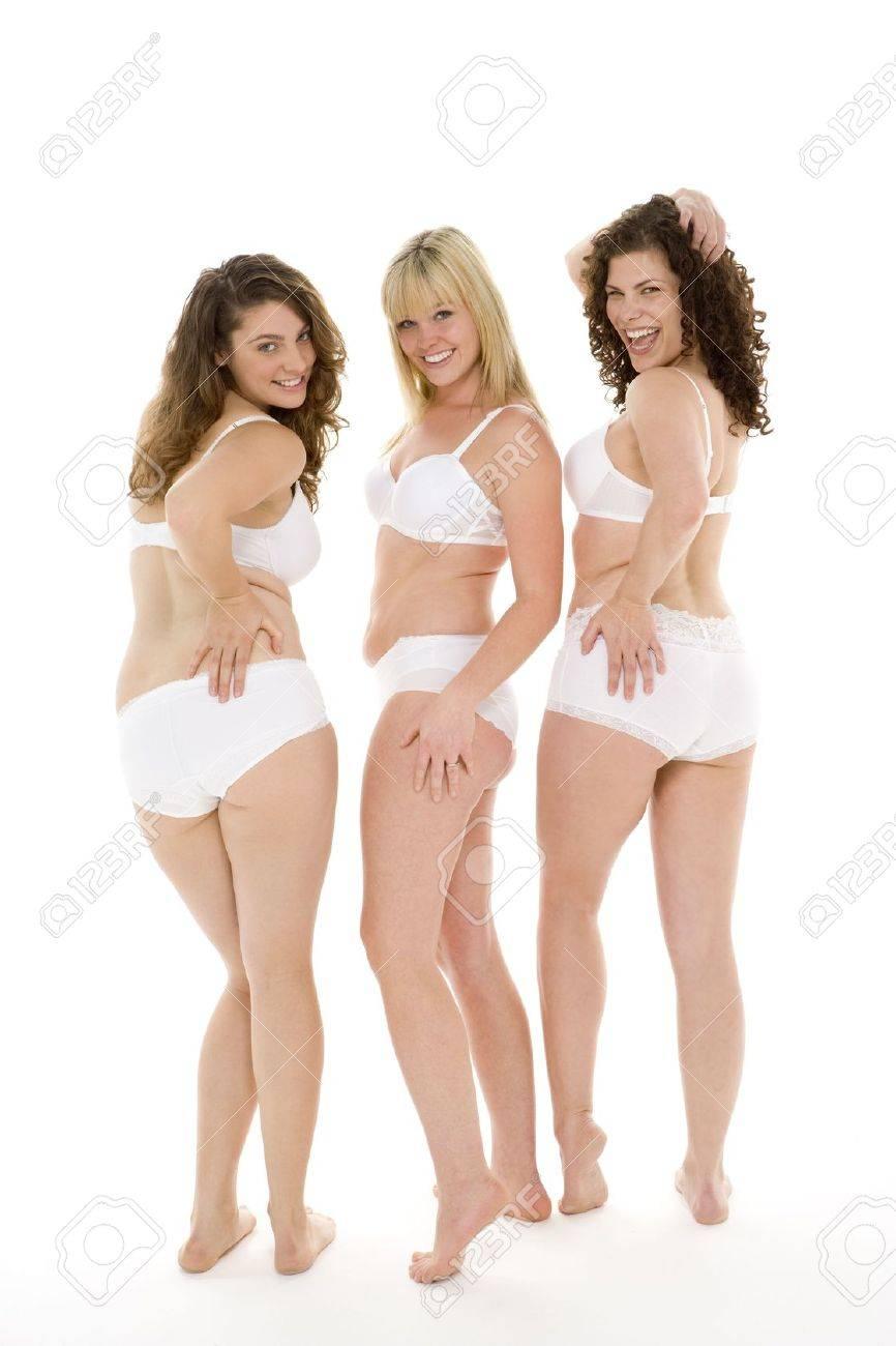 Photos Of Women In Panties : photos, women, panties, Portrait, Women, Their, Underwear, Stock, Photo,, Picture, Royalty, Image., Image, 4605931.
