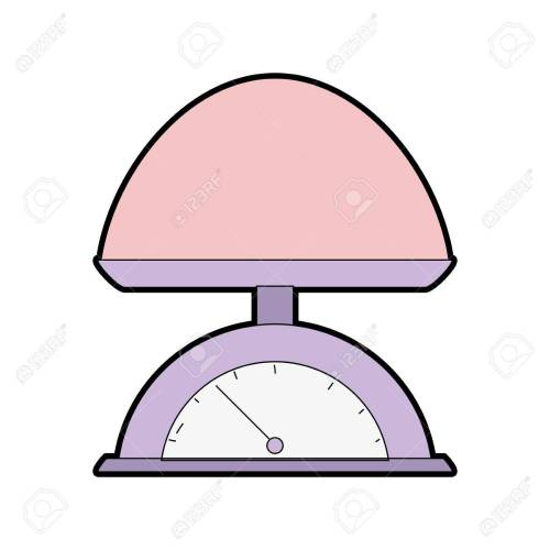 small resolution of a cartoon illustration of baby weighing scale machine balance tool stock vector 83776077