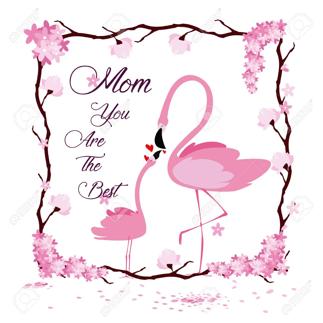 hight resolution of happy mothers day flamingo cartoon icon vector illustration graphic design stock vector 95405919