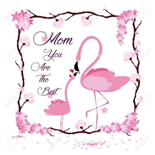 small resolution of happy mothers day flamingo cartoon icon vector illustration graphic design stock vector 95405919