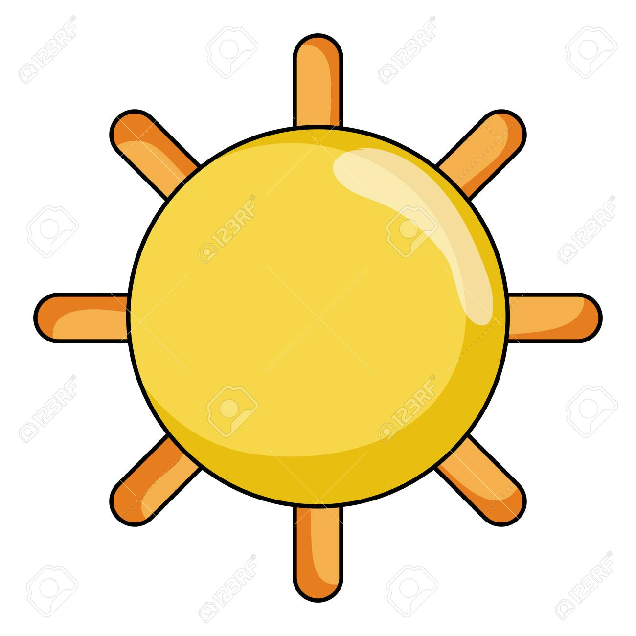 hight resolution of shine sun ray and summer weather vector illustration stock vector 99369703