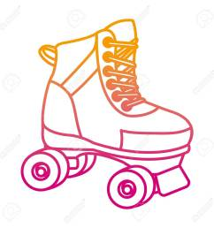 degraded line roller skate fun art style stock vector 107035509 [ 1300 x 1300 Pixel ]
