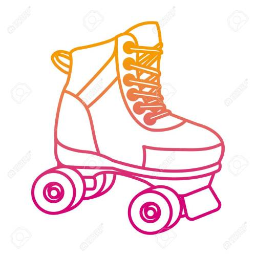 small resolution of degraded line roller skate fun art style stock vector 107035509