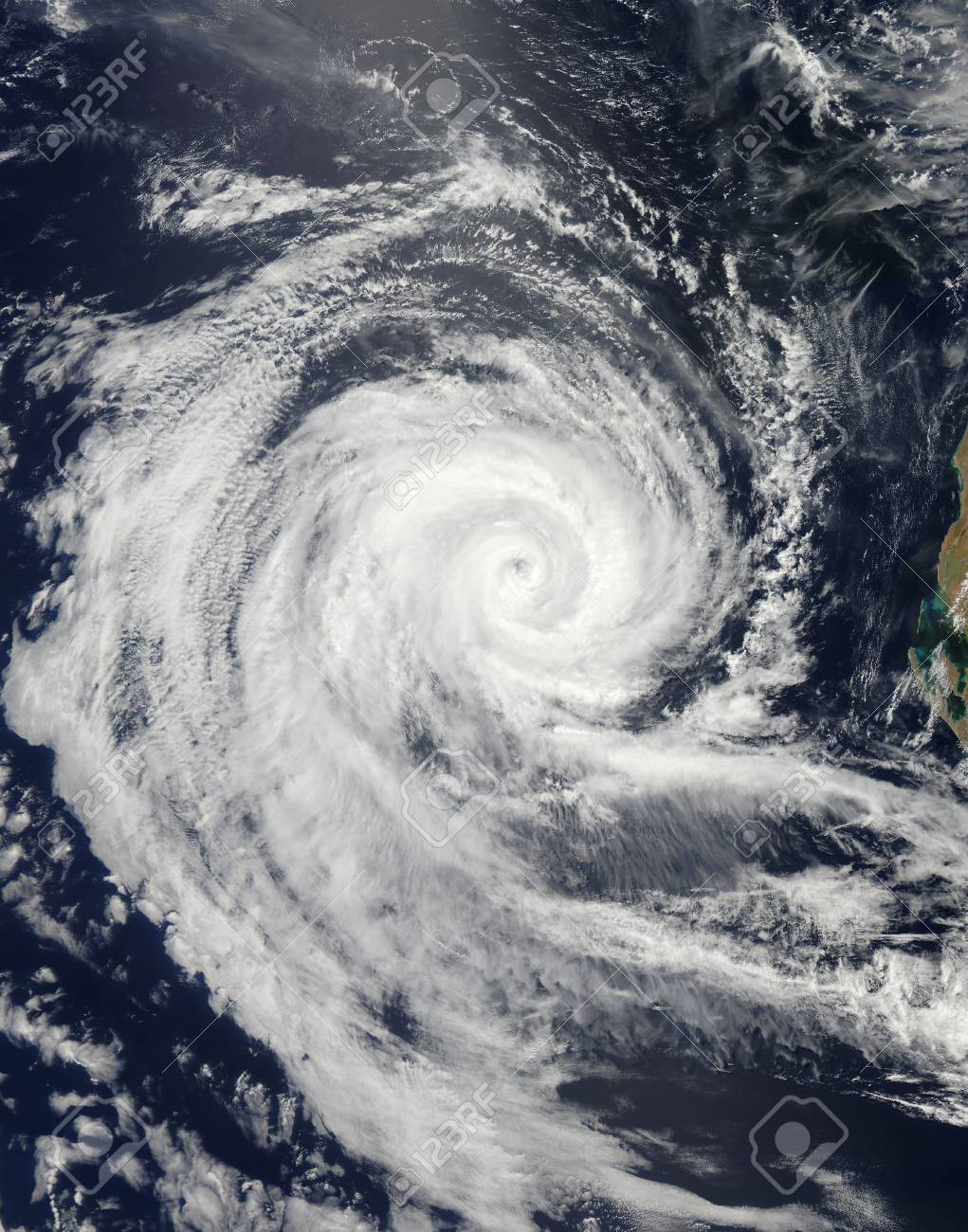 hight resolution of february 20 2011 the eye of severe tropical cyclone dianne swirled in the indian ocean as storm bands lashed the waters and also blew across the land