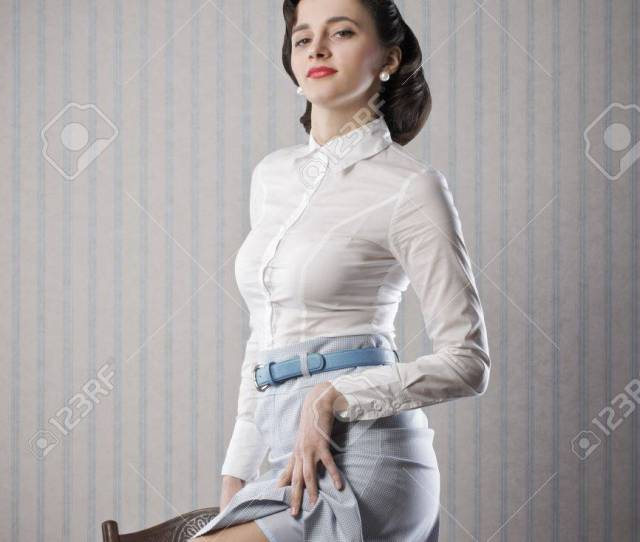 Sexy Business Woman Retro Pin Up Style Stock Photo 21772445