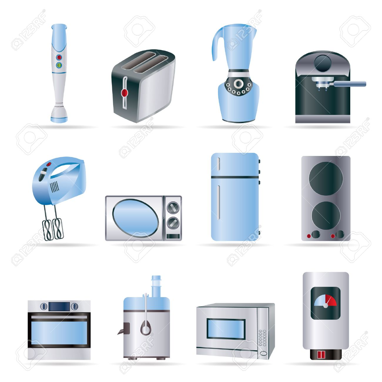 home kitchen equipment best place to buy a sink and icons vector icon set royalty free stock 5585337