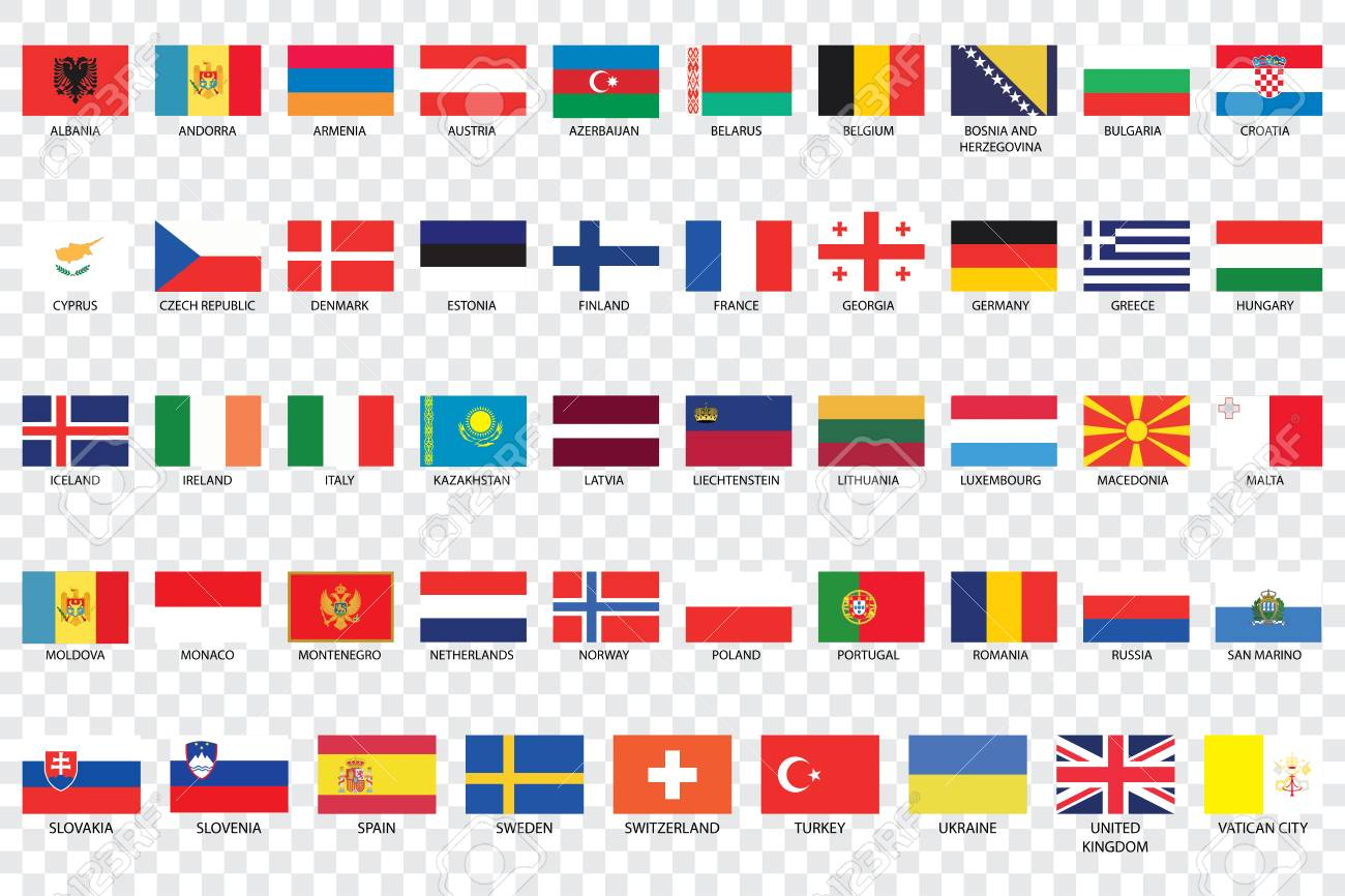 an illustrated country flags