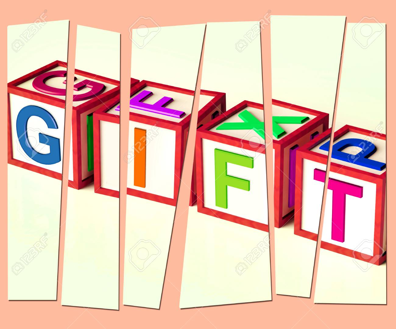 Gift Letters Meaning Giveaway Present Or Offer Stock Photo - 29054228