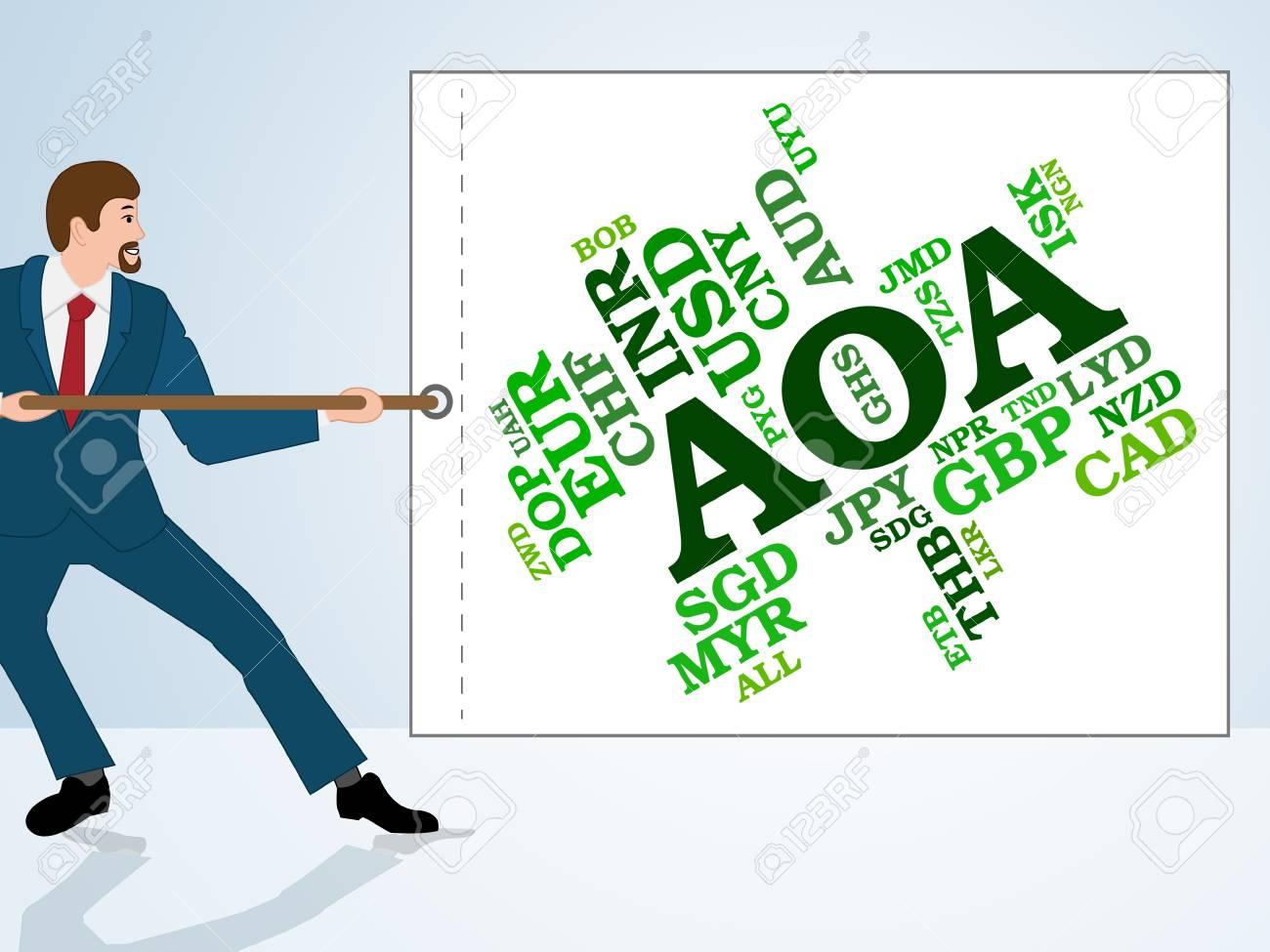 aoa currency representing worldwide