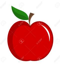 red apple with leaf illustration isolated stock vector 11588070 [ 1292 x 1300 Pixel ]