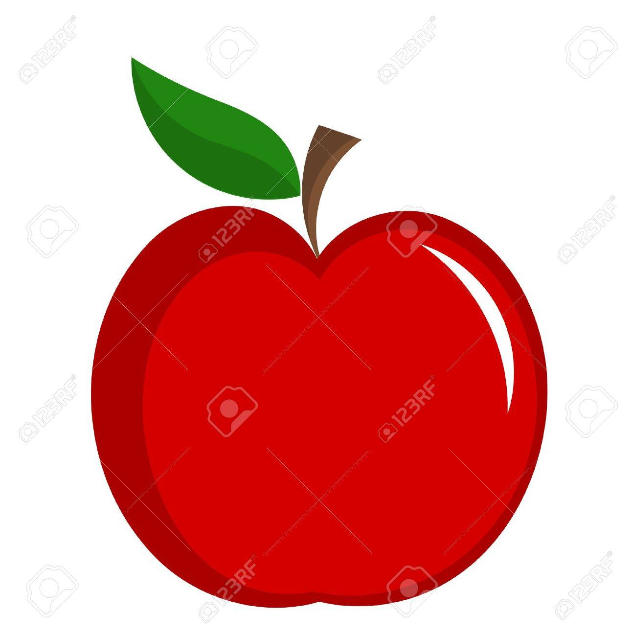 hight resolution of red apple with leaf illustration isolated stock vector 11588070