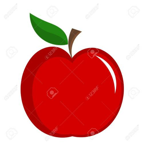 small resolution of red apple with leaf illustration isolated stock vector 11588070