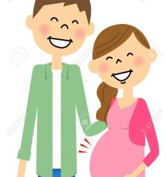 pregnant wife and husband stock vector 64425482 [ 915 x 1300 Pixel ]