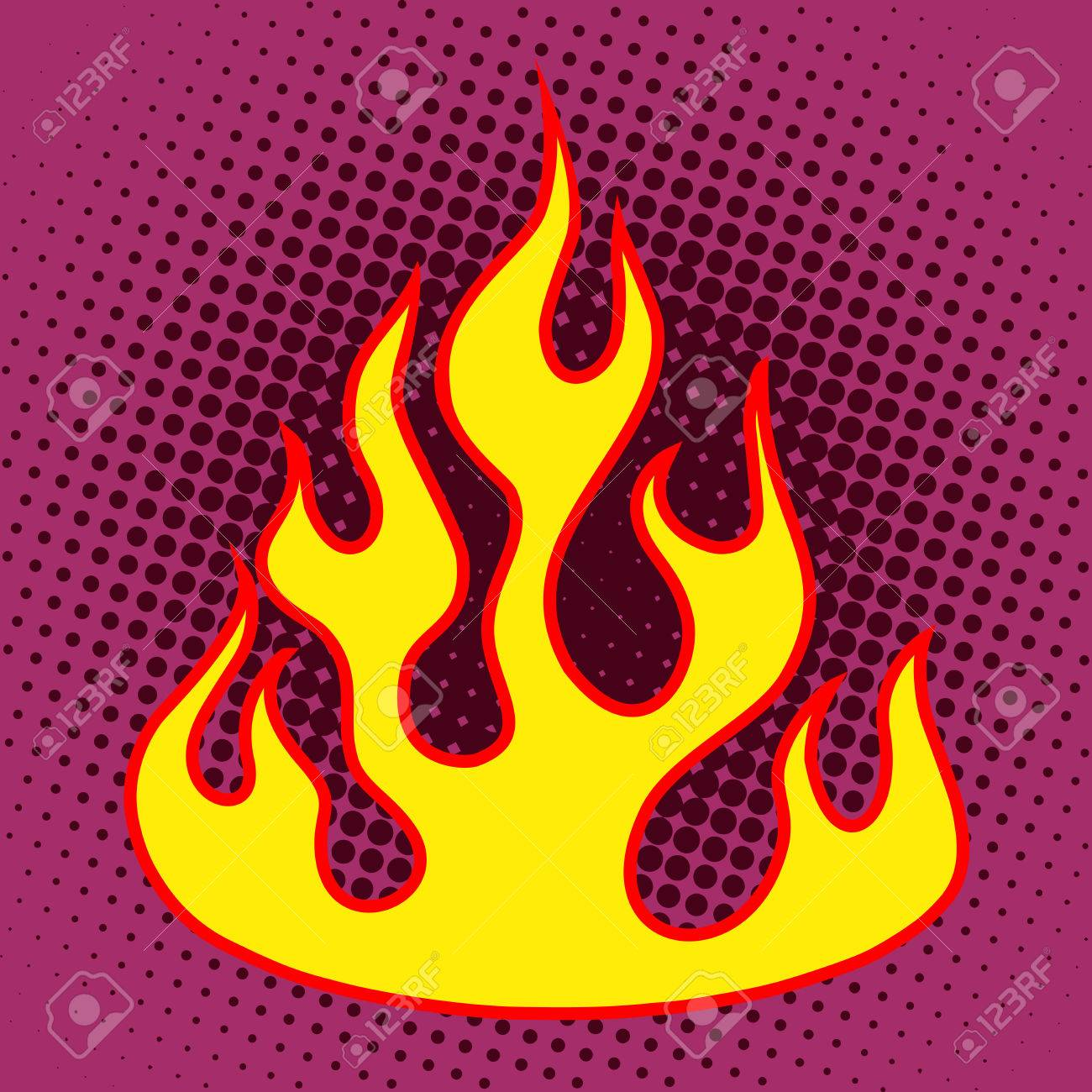 hight resolution of flame retro silhouette pop art style fire heat energy hot stock vector 48470557