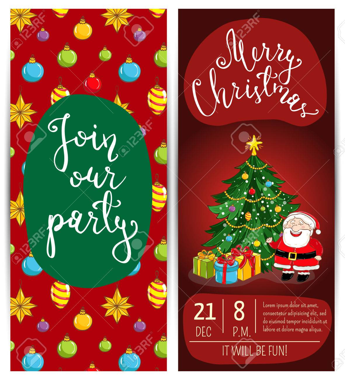 invitation on christmas party