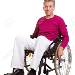 Wheelchair Man Folding Chair With Writing Tablet Elderly Handicapped Sitting In A Stock Photo Picture 8903739