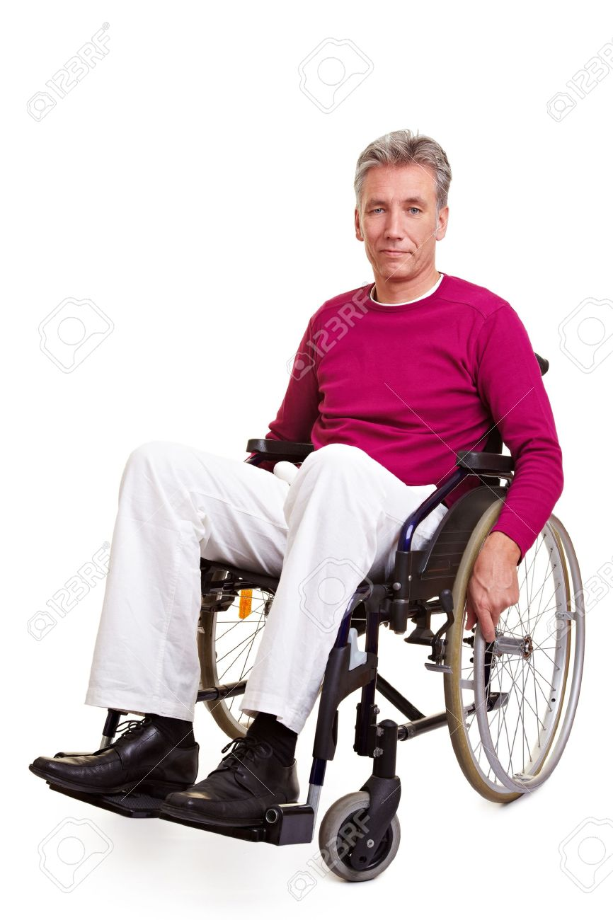 wheelchair man wooden kitchen chairs argos elderly handicapped sitting in a stock photo picture 8903739