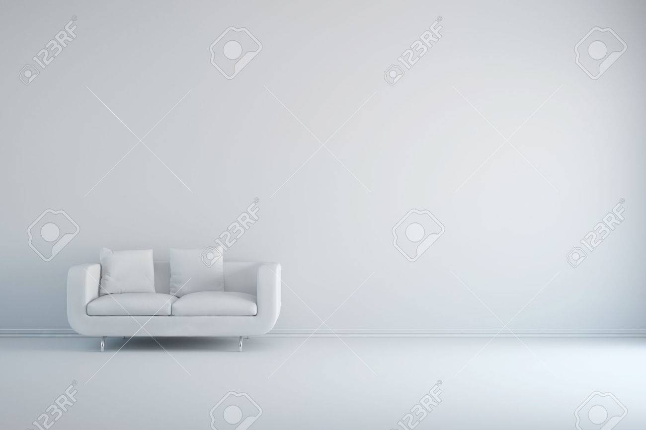 wall sofa cama easy sleep white room with and empty background stock photo picture
