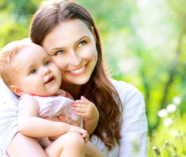 Beautiful Mother And Baby Outdoors Nature Stock Photo 19740336