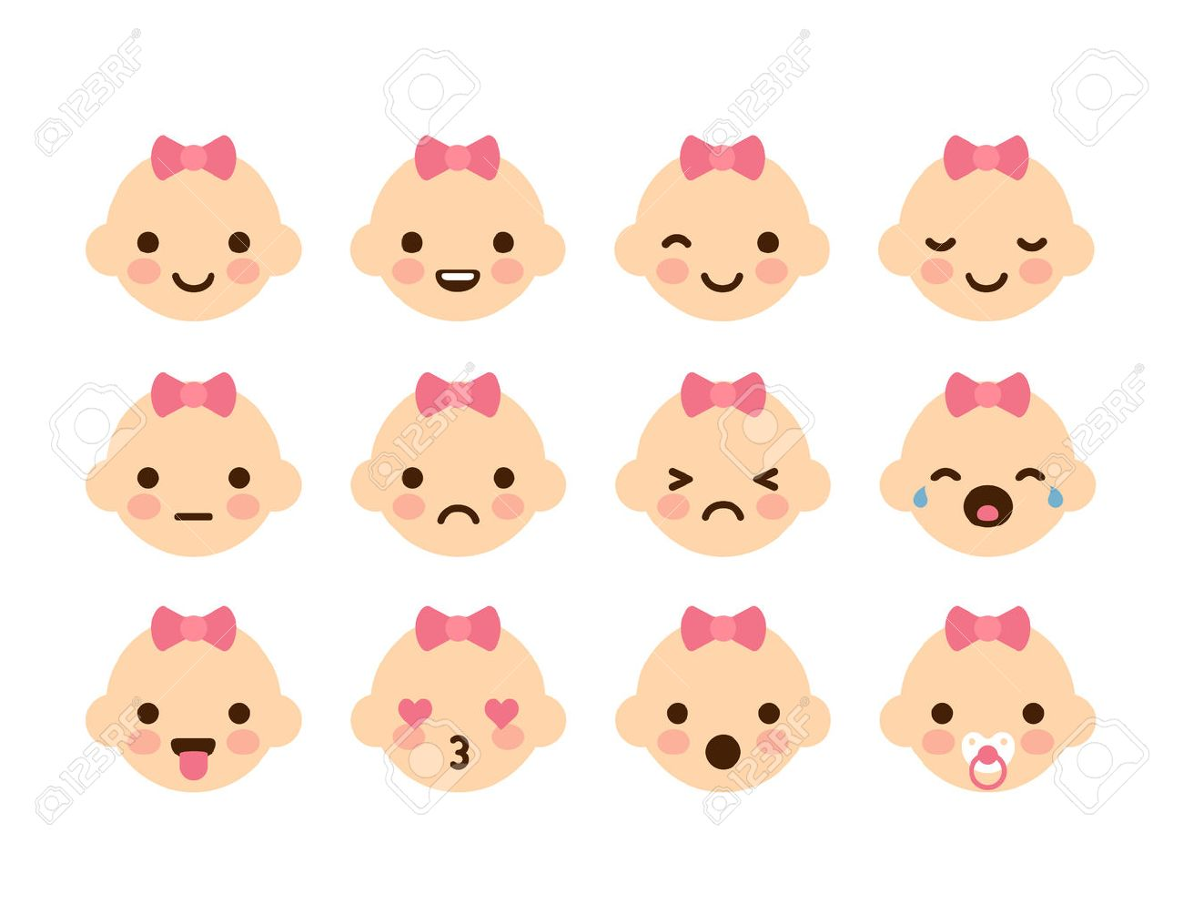 set of 12 cute