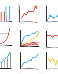 Set of abstract hand drawn charts imitating the look whiteboard marker stock vector also rh rf