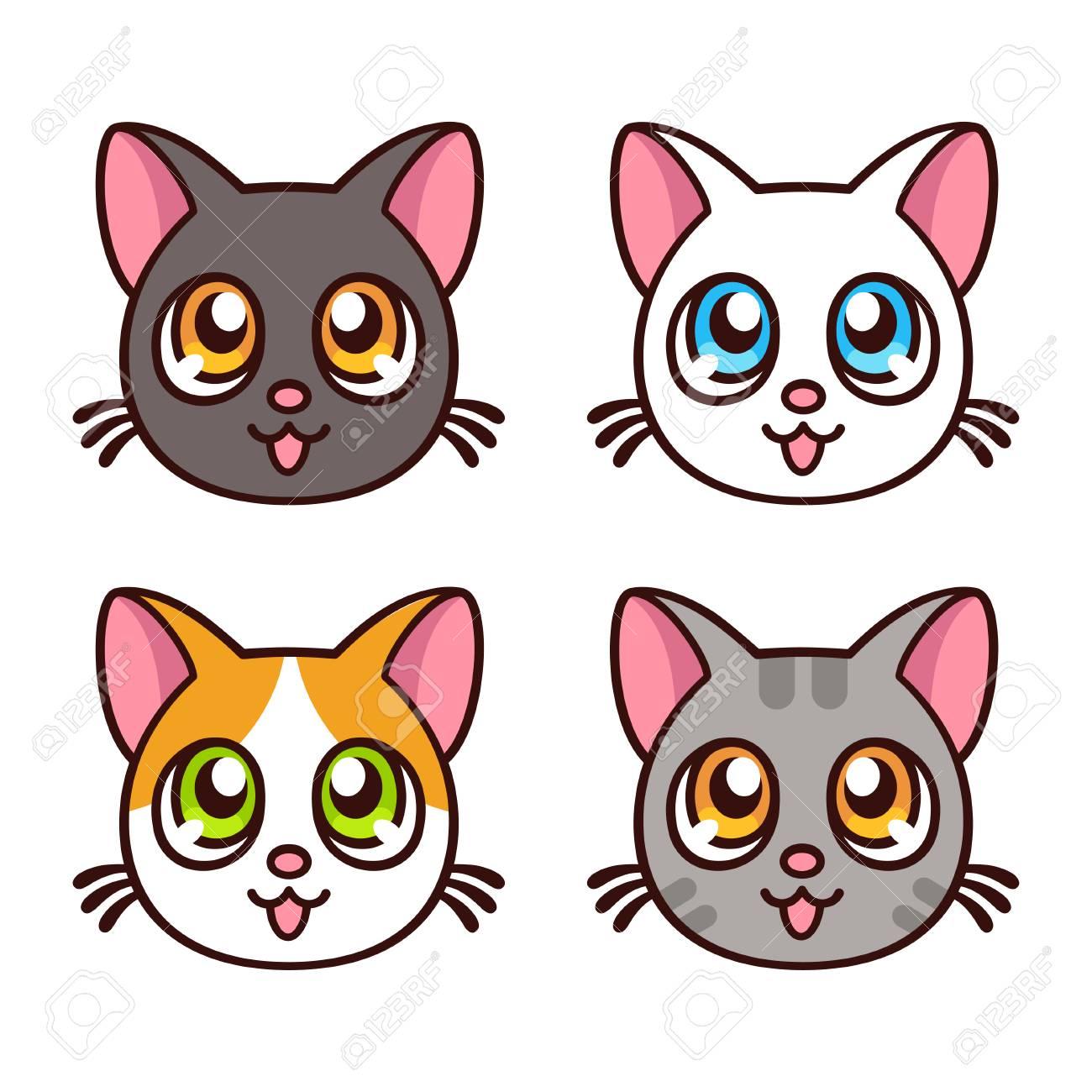cute anime cat faces