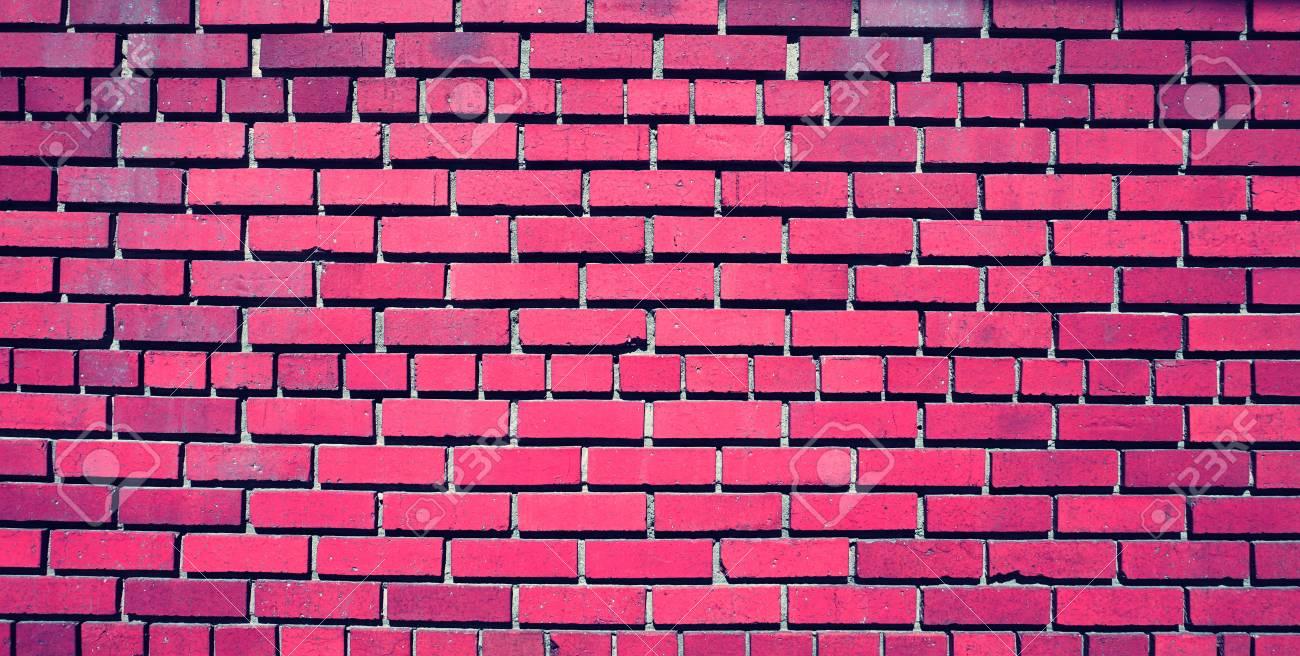 pink brick wall pattern