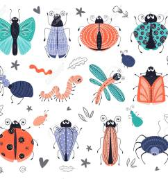discovery set of cute cartoon bugs or beetles butterflies isolated elements clipart on [ 1300 x 1137 Pixel ]