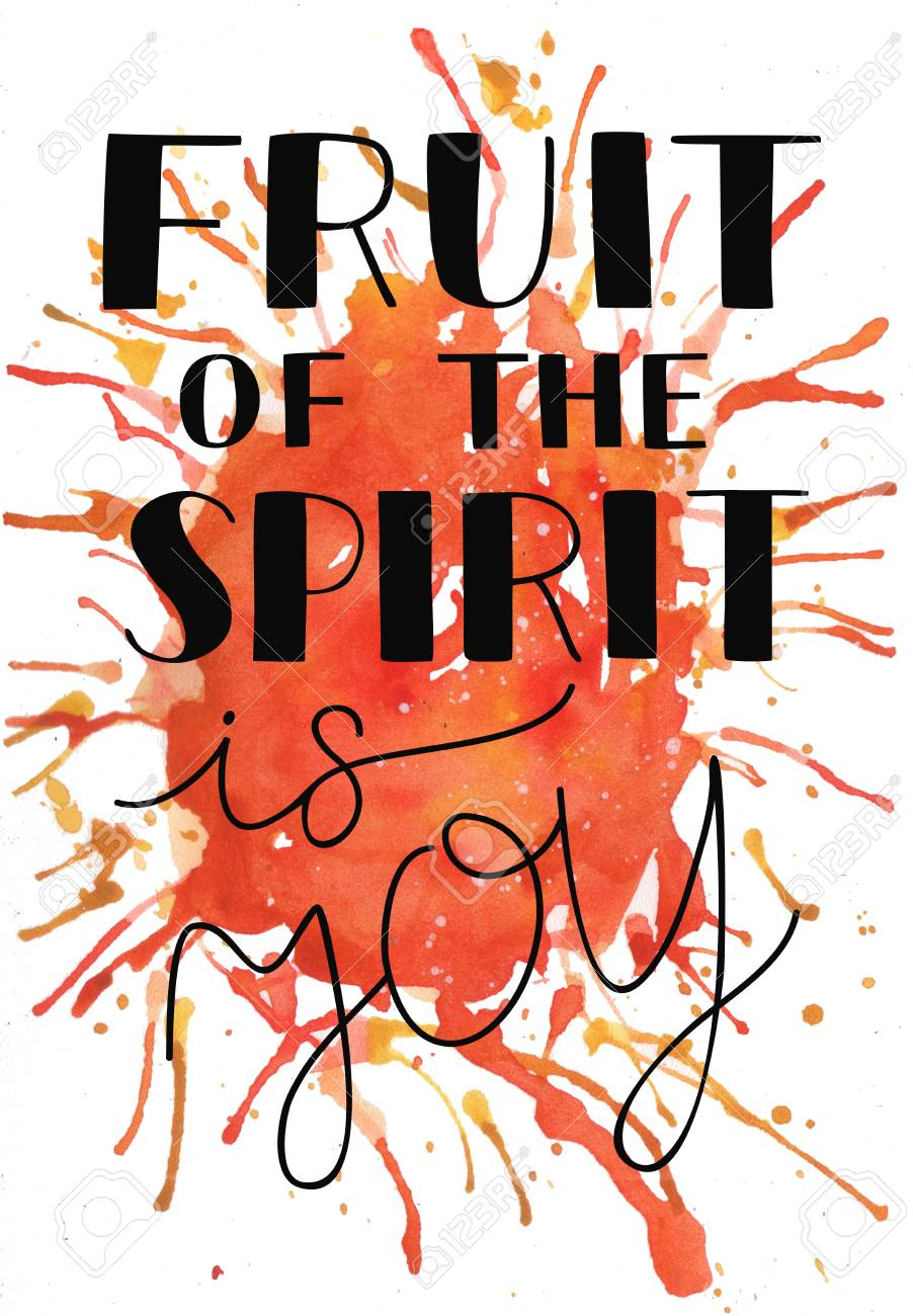 hand lettering the fruit